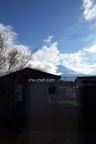 View Of Mount Fuji From Japanese Medium Room @ Kagelow Mt Fuji Hostel, Fujikawaguchiko