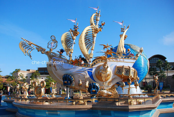 Giant Ship In Conjunction With Tokyo DisneySea's 15th Anniversary Year Of Wishes Event @ Tokyo DisneySea, Urayasu