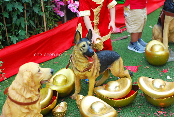 Dog Figurines For Year Of Dog @ Kuan Yin Temple, Klang