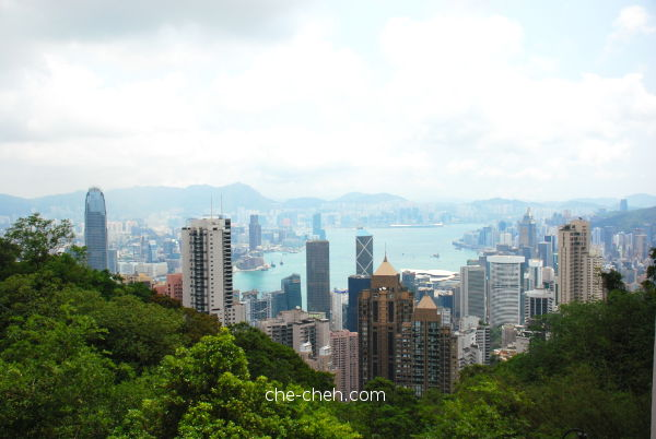 The Famous View From @ The Peak, Hong Kong