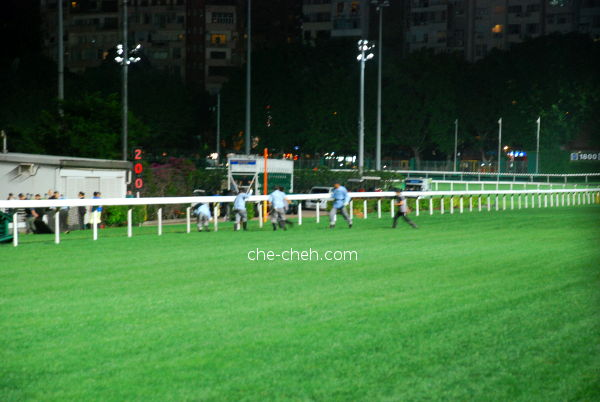 Quickly Cleaning & Repairing The Track @ Happy Valley Racecourse, Hong Kong