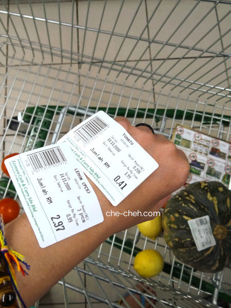 Naked Vegetables & Fruits With Its Price Stickers
