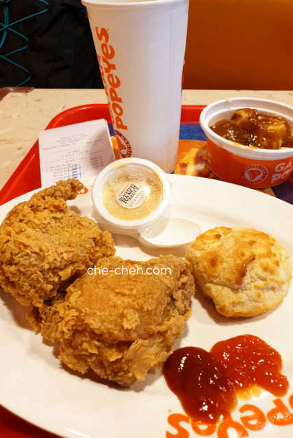 Chicken 2 Pieces Combos @ Popeye Popeyes, Noi Bai International Airport