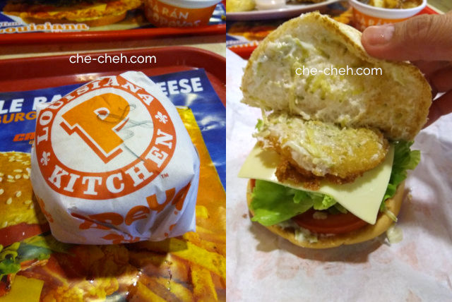 Shrimp Cheese Burger @ Popeyes, Noi Bai International Airport